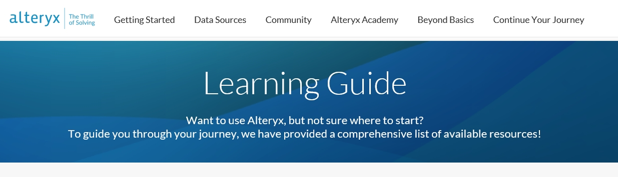 Learning Guide TOP Alteryx