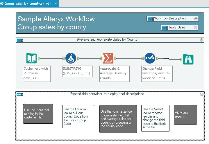 Sample Workflow Alteryx 3
