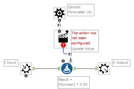 Alteryx Batch Macro 設定画面 Action追加
