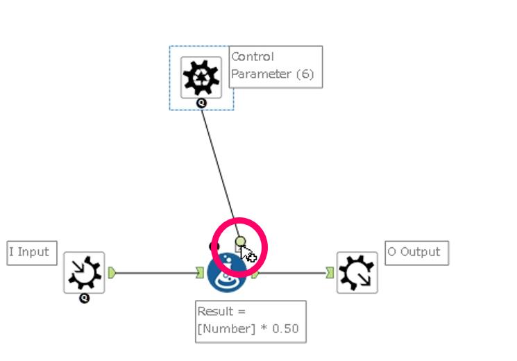 Alteryx Batch Macro 設定画面 Control parameter