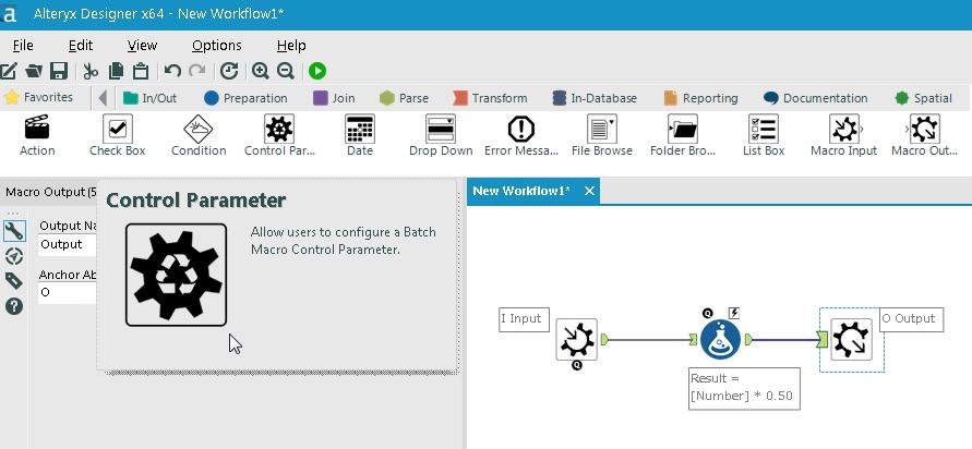 Alteryx Batch Macro 7 ContorolParameter