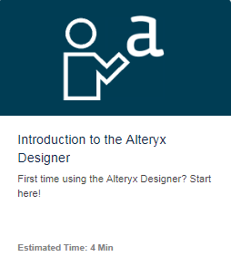 Alteryx Community Interactive Lessons サンプル画像1