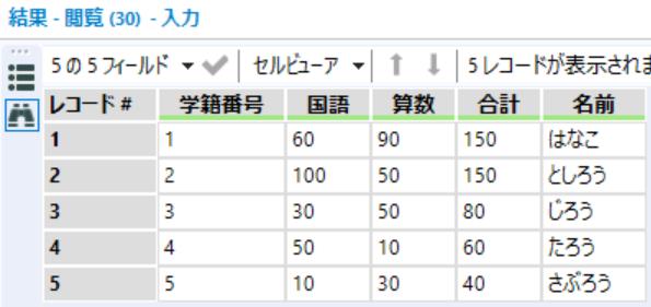Alteryx Excel 関数 一覧 対比 VLOOKUP JOIN ジョイン ツール Alteryx 出力結果
