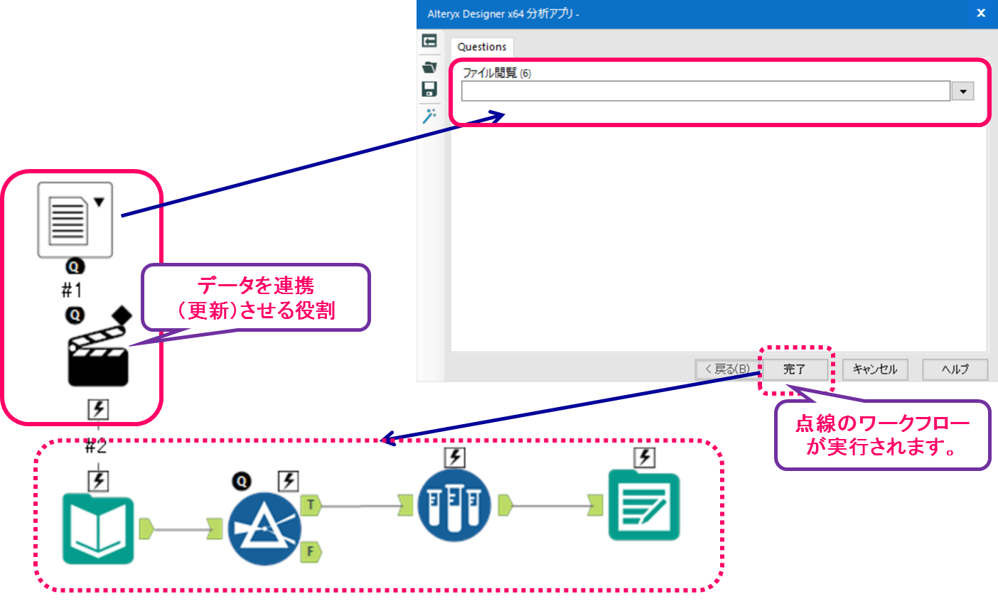 Alteryx analytic apps macro interface tool 説明