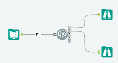 Alteryx R Tool アール ツール サンプルワークフロー 紹介画像